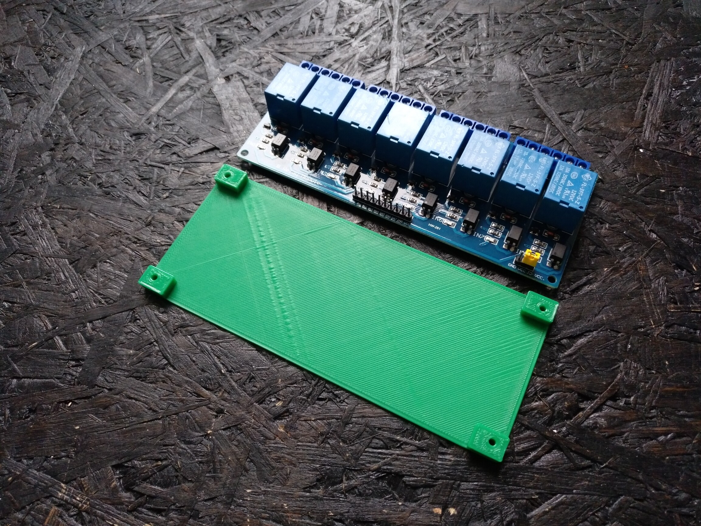 3D-printed relay module holder