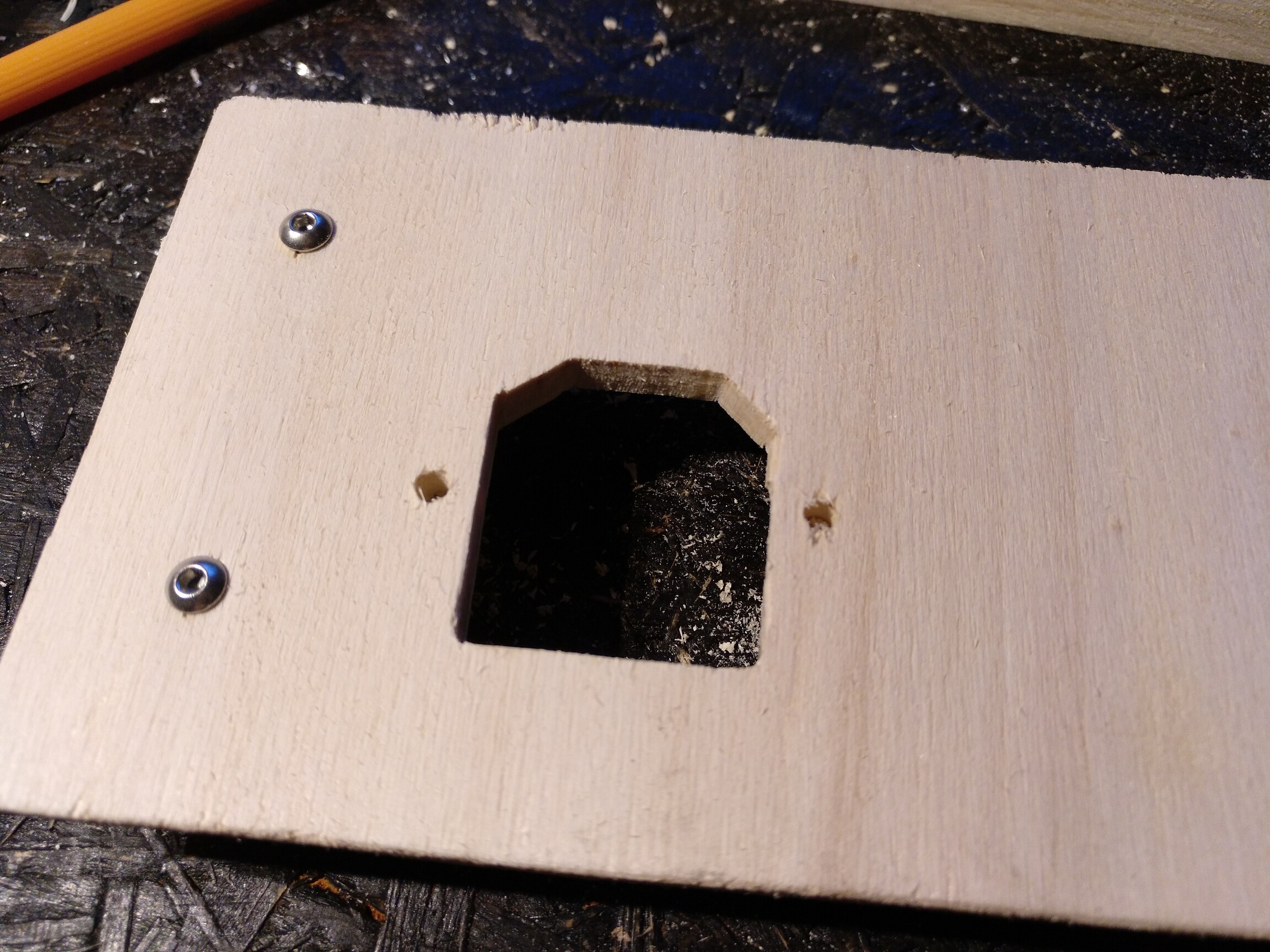 hole for the power input connector
